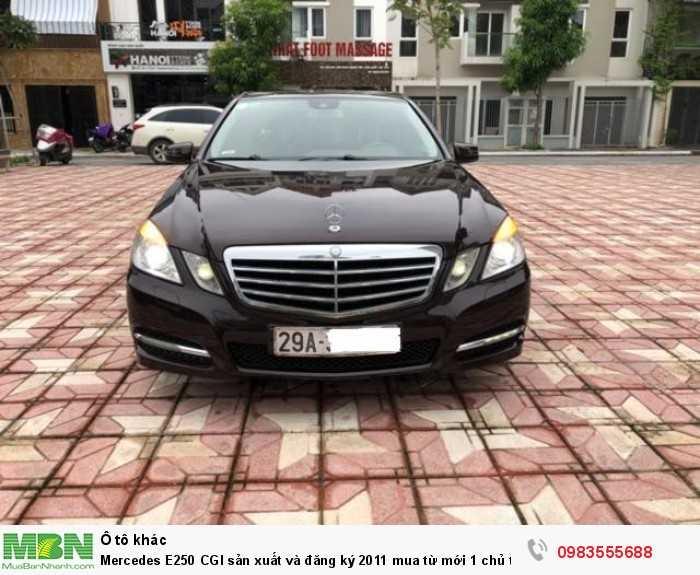 Mercedes E250 CGI sản xuất và đăng ký 2011 mua từ mới 1 chủ từ đầu siêu đẹp.