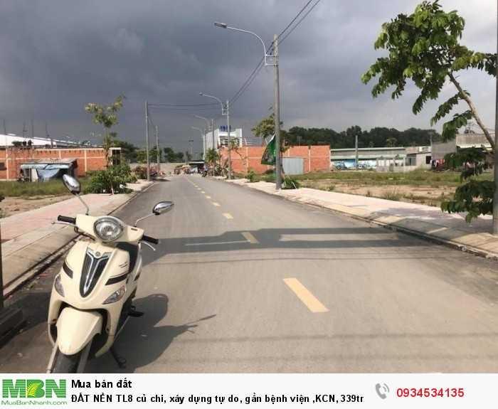ĐẤT NỀN TL8 củ chi, xây dựng tự do, gần bệnh viện ,KCN, 339tr/nền Thổ cư