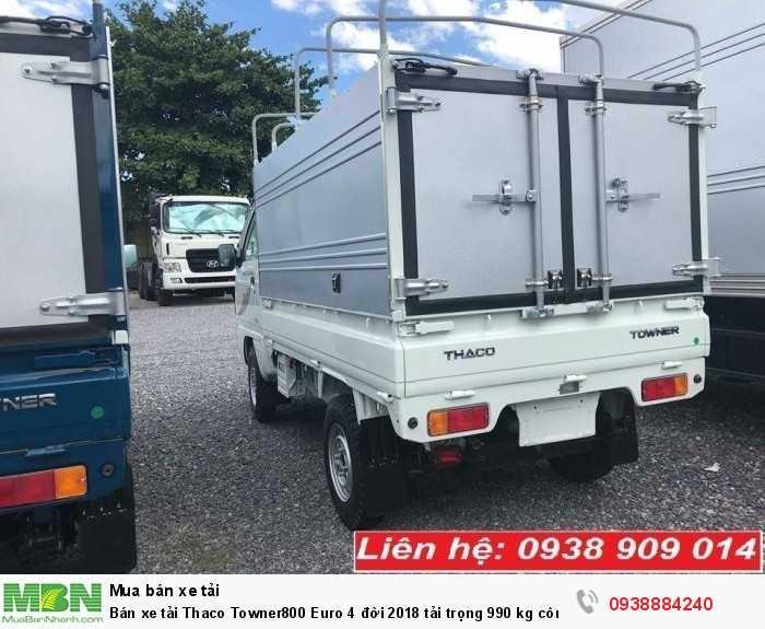 Bán xe tải Thaco Towner800 Euro 4 đời 2018 tải trọng 990 kg công nghệ Suzuki tại Long An, Tiền Giang, Bến Tre 2