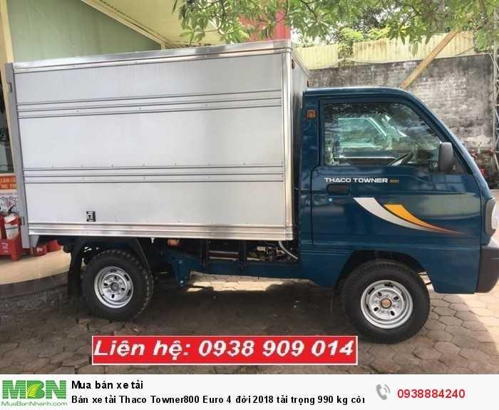 Bán xe tải Thaco Towner800 Euro 4 đời 2018 tải trọng 990 kg công nghệ Suzuki tại Long An, Tiền Giang, Bến Tre 3