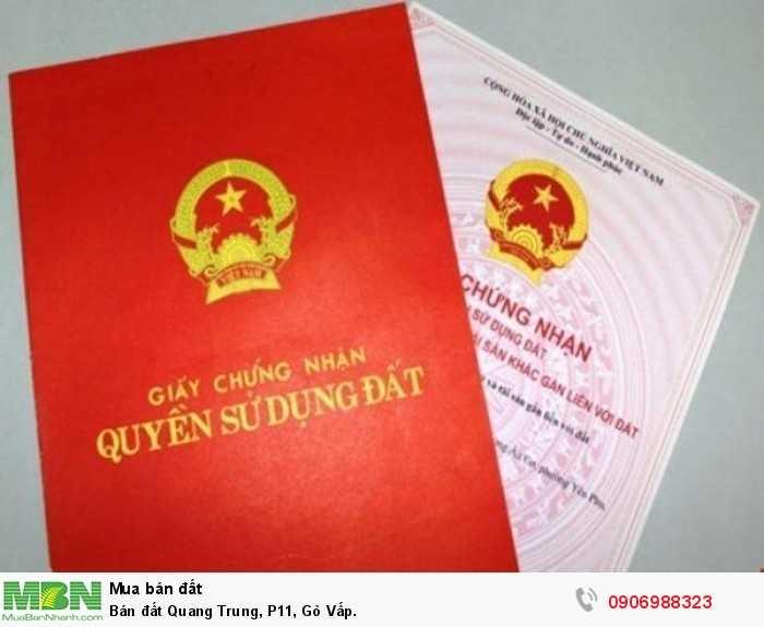 Bán đất Quang Trung, P11, Gò Vấp.