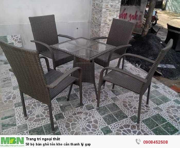 50 bộ bàn ghế tồn kho cần thanh lý gap
