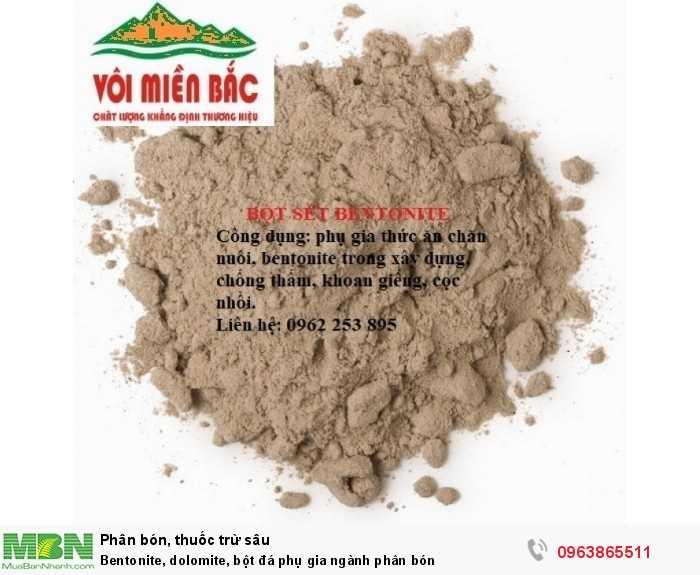 Bentonite, dolomite, bột đá phụ gia ngành phân bón1