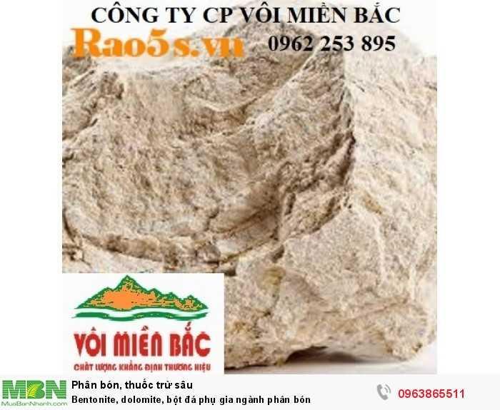 Bentonite, dolomite, bột đá phụ gia ngành phân bón3