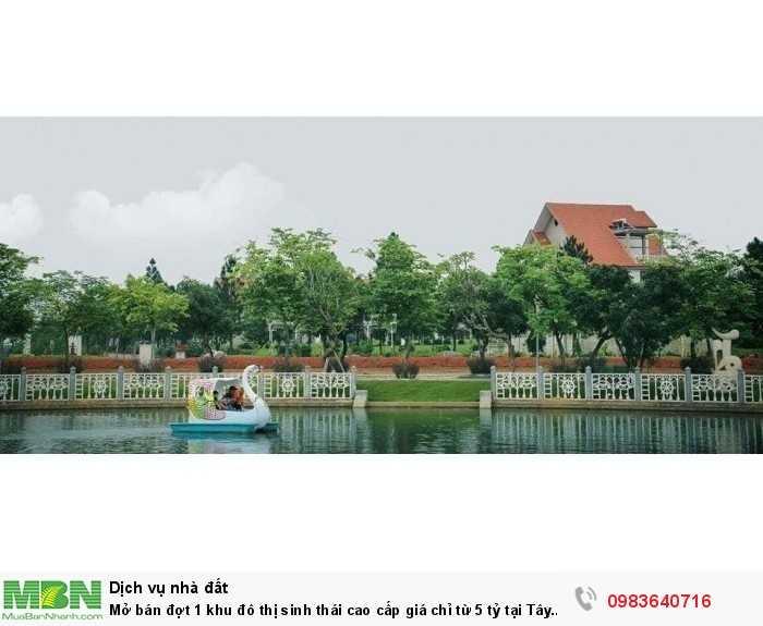 Mở bán đợt 1 khu đô thị sinh thái cao cấp  giá  chỉ từ 5 tỷ tại Tây Hà Nội