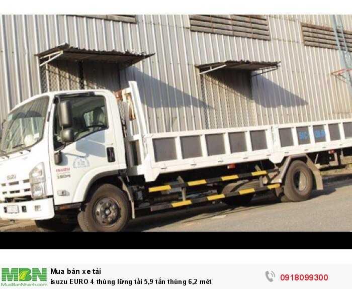 Isuzu EURO 4 thùng lững tải 5,9 tấn thùng 6,2 mét