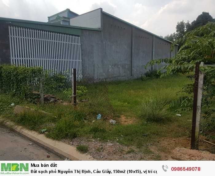 Đất sạch phố Nguyễn Thị Định, Cầu Giấy, 150m2 (10x15), vị trí cực đẹp, kinh doanh sầm uất