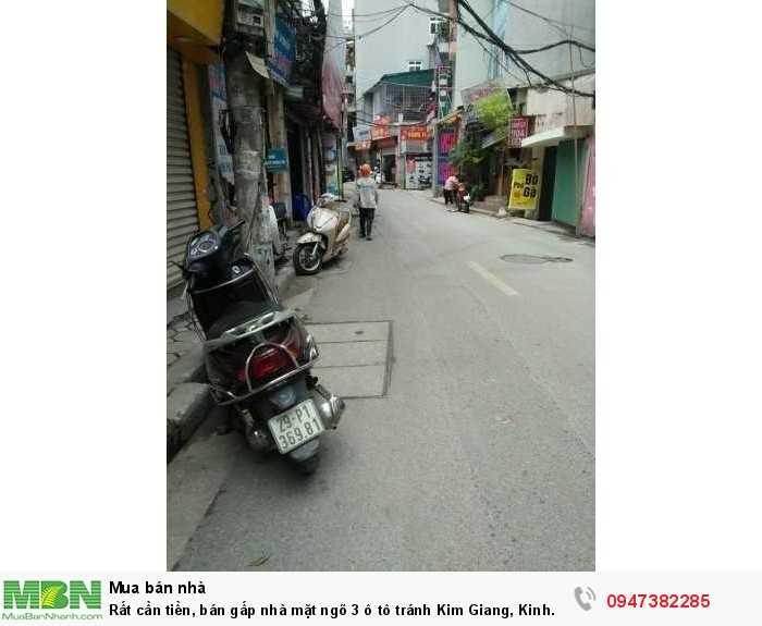 Rất cần tiền, bán gấp nhà mặt ngõ 3 ô tô tránh Kim Giang, Kinh doanh cực đỉnh 40m2
