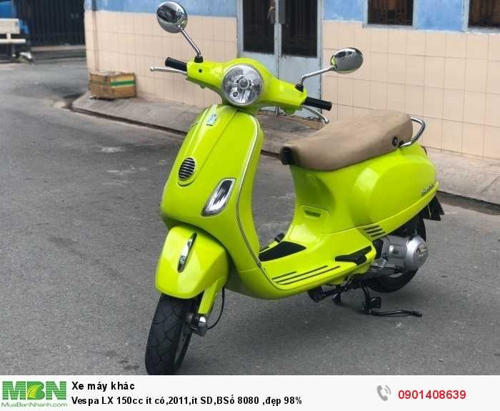 Vespa LX 150cc ít có,2011,ít SD,BSố 8080 ,đẹp 98%