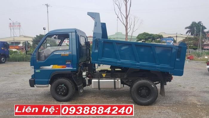 Bán xe ben 2.5 tấn Thaco Forland FD250 E4 Euro 4 năm 2018 tại Long An, Tiền Giang, Bến Tre