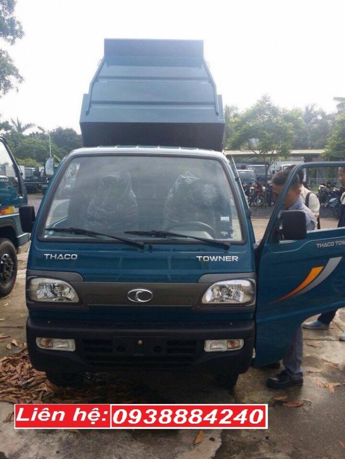 Bán xe ben Thaco Towner 800 Euro 4 mới nhất 2018 công nghệ Suzuki thùng ben 1 khối tại Long An, Tiền Giang, Bến Tre 0