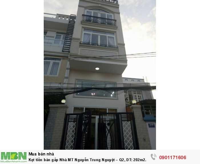 Kẹt tiền bán gấp Nhà MT Nguyễn Trung Nguyệt – Q2, DT: 202m2.