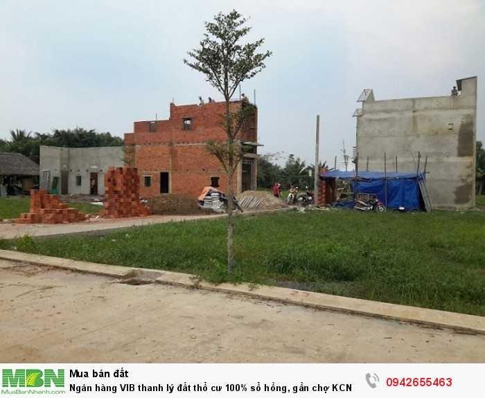Ngân hàng VIB thanh lý đất thổ cư 100% sổ hồng, gần chợ KCN bệnh viện, sổ hồng trao tay