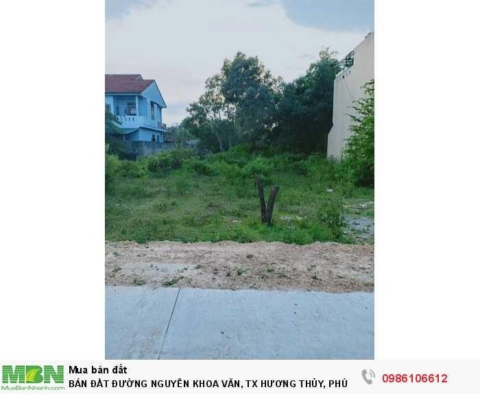 Bán đất đường Nguyễn Khoa Văn, TX.Hương Thủy, Phú Bài, dt 257m2, hướng nam, giá 770 triệu
