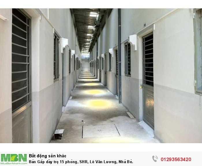Bán Gấp dãy trọ 15 phòng, SHR, Lê Văn Lương, Nhà Bè.