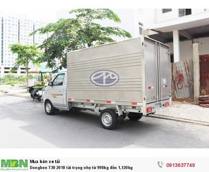 Dongben T30 2018 tải trọng nhẹ từ 990kg đến 1,120kg