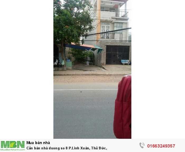 Cần bán nhà duong so 8 P.Linh Xuân, Thủ Đức
