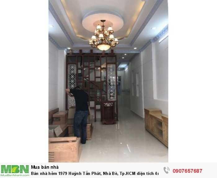 Bán nhà hẻm 1979 Huỳnh Tấn Phát, Nhà Bè, Tp.HCM diện tích 4m x 20m