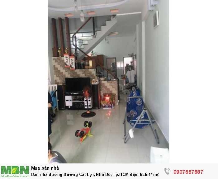 Bán nhà đường Dương Cát Lợi, Nhà Bè, Tp.HCM diện tích 44m2,1 lầu 1 trệt