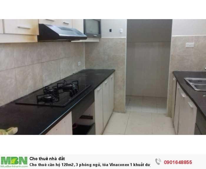 Cho thuê căn hộ 120m2, 3 phòng ngủ, tòa Vinaconex 1 khuất duy tiến, giá cực rẻ