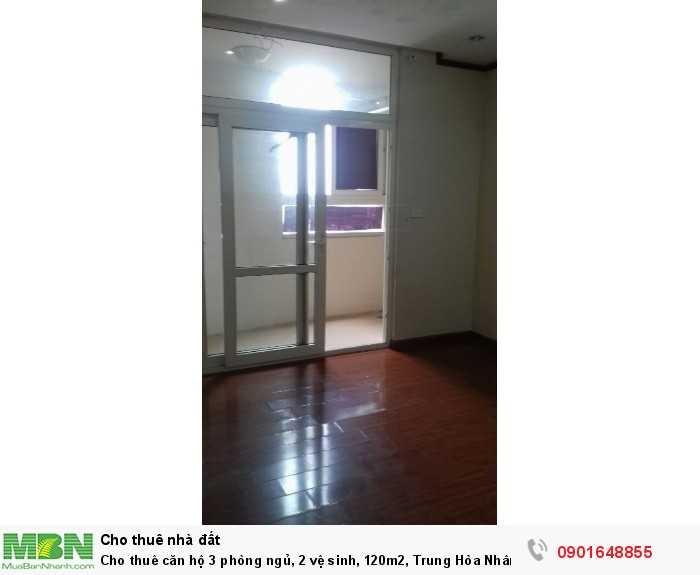 Cho thuê căn hộ 3 phòng ngủ, 2 vệ sinh, 120m2, Trung Hòa Nhân Chính