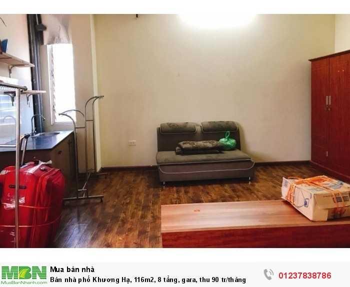 Bán nhà phố Khương Hạ, 116m2, 8 tầng, gara, thu 90 tr/tháng