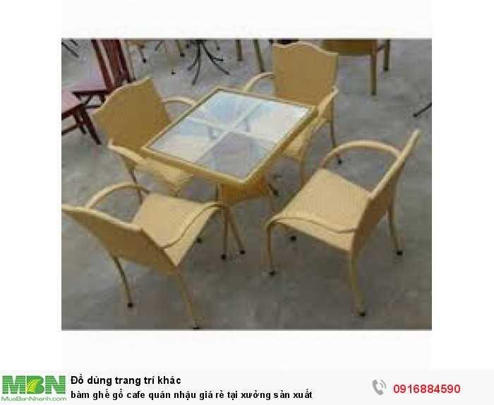 Bàn ghế gổ cafe quán nhậu giá rẻ tại xưởng sản xuất0