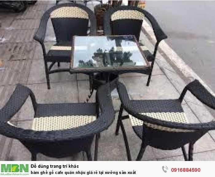 Bàn ghế gổ cafe quán nhậu giá rẻ tại xưởng sản xuất2