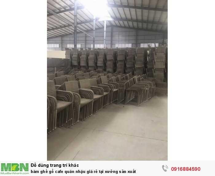 Bàn ghế gổ cafe quán nhậu giá rẻ tại xưởng sản xuất5