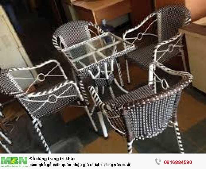 Bàn ghế gổ cafe quán nhậu giá rẻ tại xưởng sản xuất6