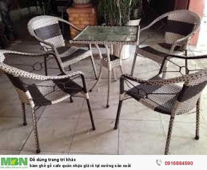 Bàn ghế gổ cafe quán nhậu giá rẻ tại xưởng sản xuất8