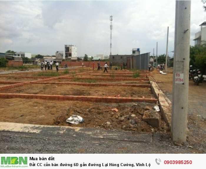 Đất CC cần bán đường 6D gần đường Lại Hùng Cường, Vĩnh Lộc B, Bình Chánh 4x14m SH