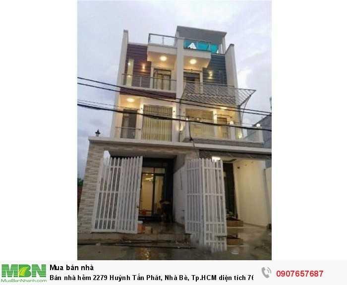 Bán nhà hẻm 2279 Huỳnh Tấn Phát, Nhà Bè, Tp.HCM diện tích 76m2
