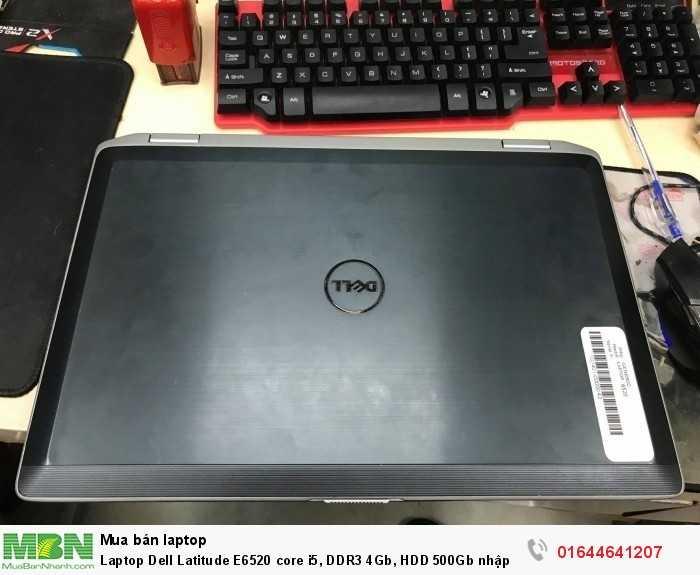 LaptopDellLatitudeE6520core i5, DDR3 4Gb, HDD 500Gb nhập khẩu Mỹ zin bao test0