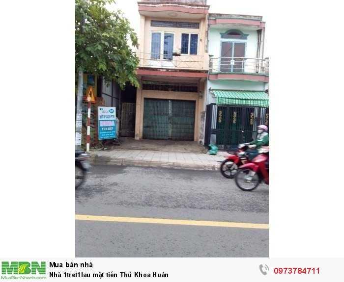 Nhà 1tret1lau mặt tiền Thủ Khoa Huân