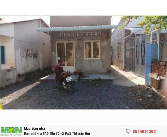 Bán nhà 4 x 17,5 Shr 70m2 Kp2 Thị trấn Hóc Môn