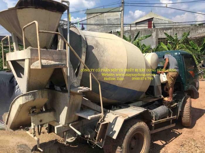 Bồn trộn bê tông 3 khối thủy lực - hàng nhập khẩu