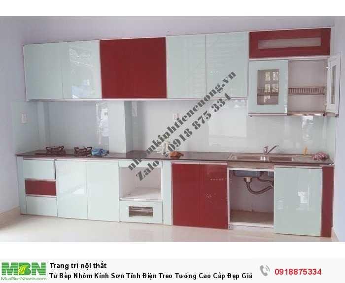 Tủ Bếp Nhôm Kính Sơn Tĩnh Điện Treo Tường Cao Cấp Đẹp Giá Rẻ Tphcm0
