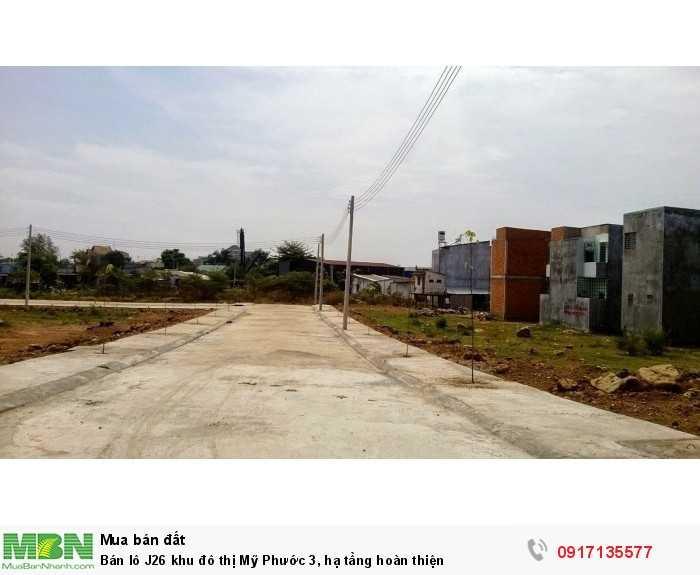 Bán lô J26 khu đô thị Mỹ Phước 3, hạ tầng hoàn thiện