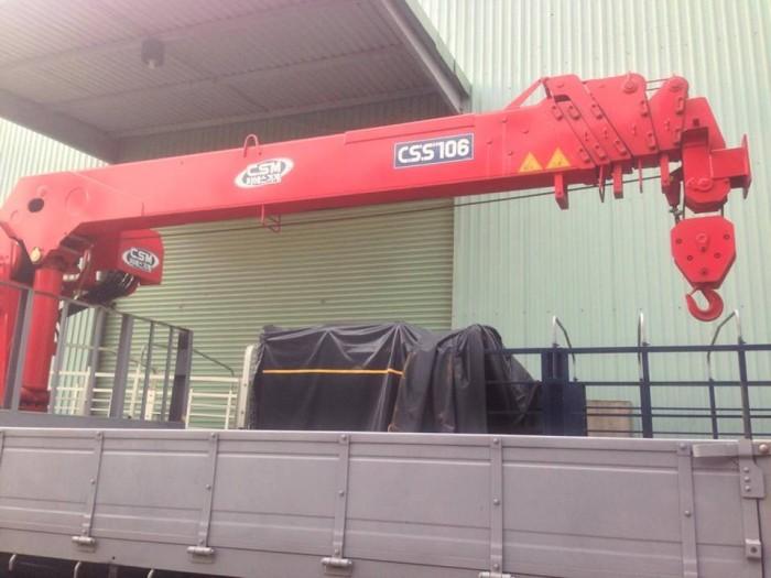 Xe tải DAEWOO PRIMA lắp cẩu UNIC 5 tấn