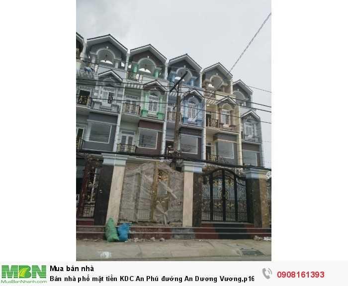 Bán nhà phố mặt tiền KDC An Phú đường An Dương Vương,p16,Quận 8, 1Tr,3Lầu, 4PN