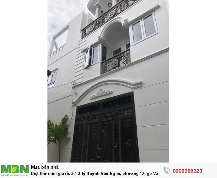 Biệt thư mini giá rẻ Huỳnh Văn Nghệ, phường 12, gò Vấp.
