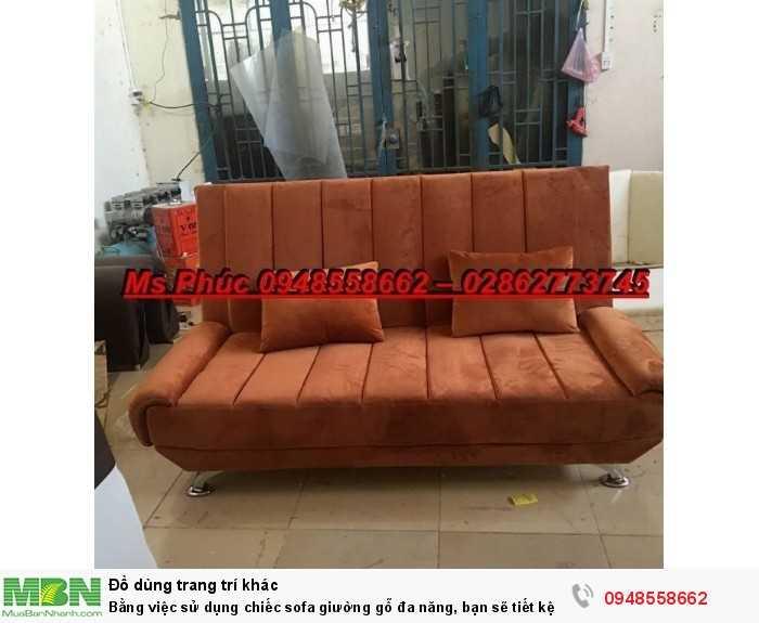 Bằng việc sử dụng chiếc sofa giường gỗ đa năng, bạn sẽ tiết kệm được tiền mua 2 bộ nội thất4