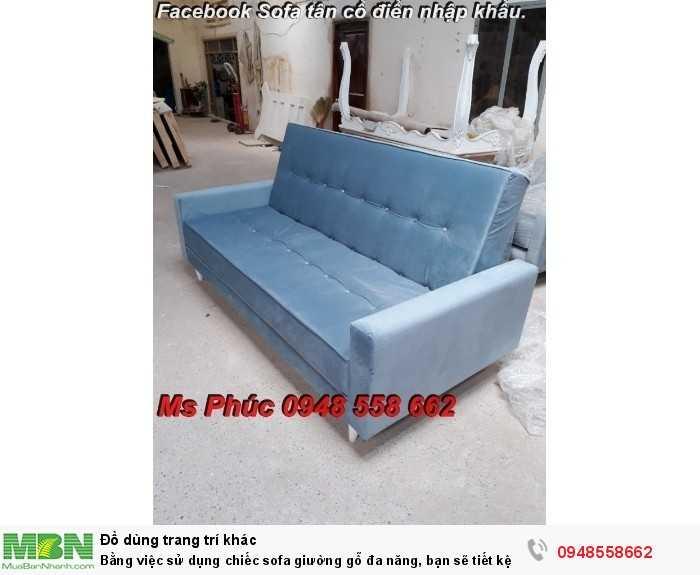 Bằng việc sử dụng chiếc sofa giường gỗ đa năng, bạn sẽ tiết kệm được tiền mua 2 bộ nội thất6