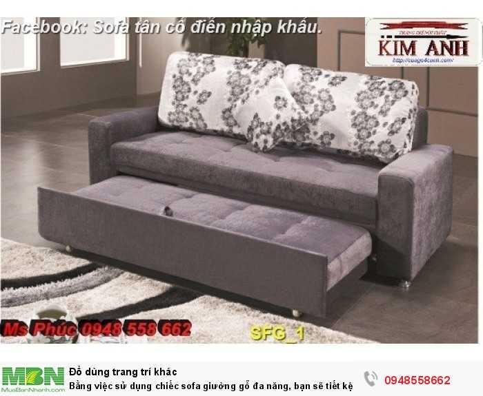 Bằng việc sử dụng chiếc sofa giường gỗ đa năng, bạn sẽ tiết kệm được tiền mua 2 bộ nội thất8