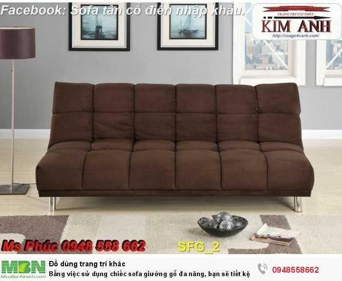 Bằng việc sử dụng chiếc sofa giường gỗ đa năng, bạn sẽ tiết kệm được tiền mua 2 bộ nội thất10