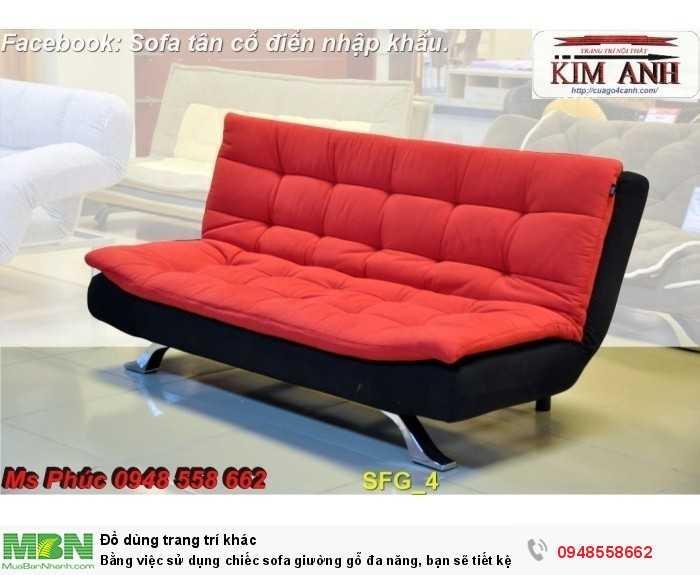 Bằng việc sử dụng chiếc sofa giường gỗ đa năng, bạn sẽ tiết kệm được tiền mua 2 bộ nội thất11