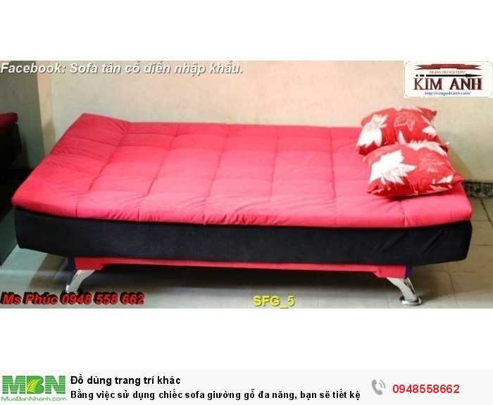 Bằng việc sử dụng chiếc sofa giường gỗ đa năng, bạn sẽ tiết kệm được tiền mua 2 bộ nội thất12