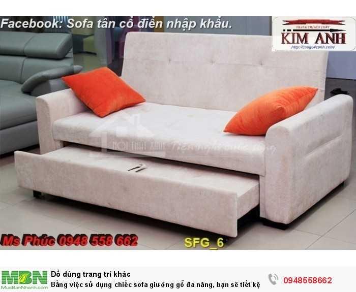 Bằng việc sử dụng chiếc sofa giường gỗ đa năng, bạn sẽ tiết kệm được tiền mua 2 bộ nội thất13