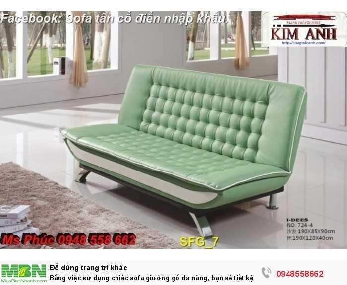 Bằng việc sử dụng chiếc sofa giường gỗ đa năng, bạn sẽ tiết kệm được tiền mua 2 bộ nội thất14